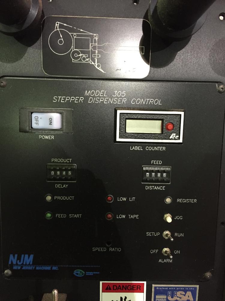 NJM Stepper Label Dispenser