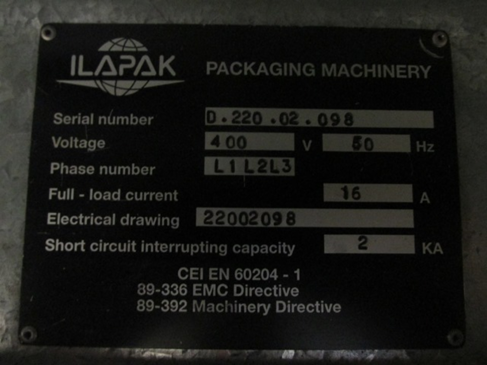 Ilapak Delta 3000 LD Flow Wrapper