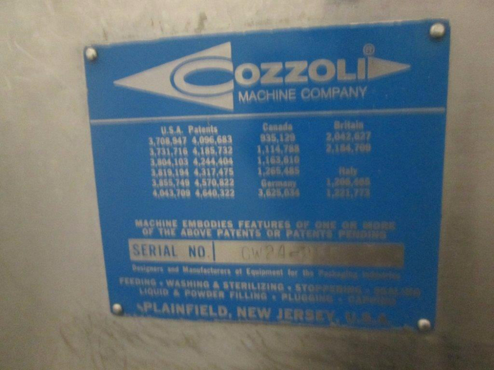 Cozzoli GW24 Vial Washer