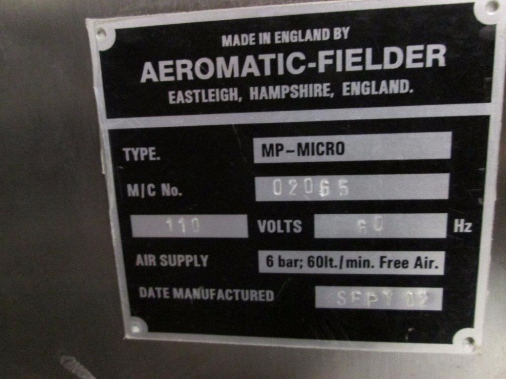 GEA Niro Aeromatic Fielder MP-Micro Fluid Bed Dryer