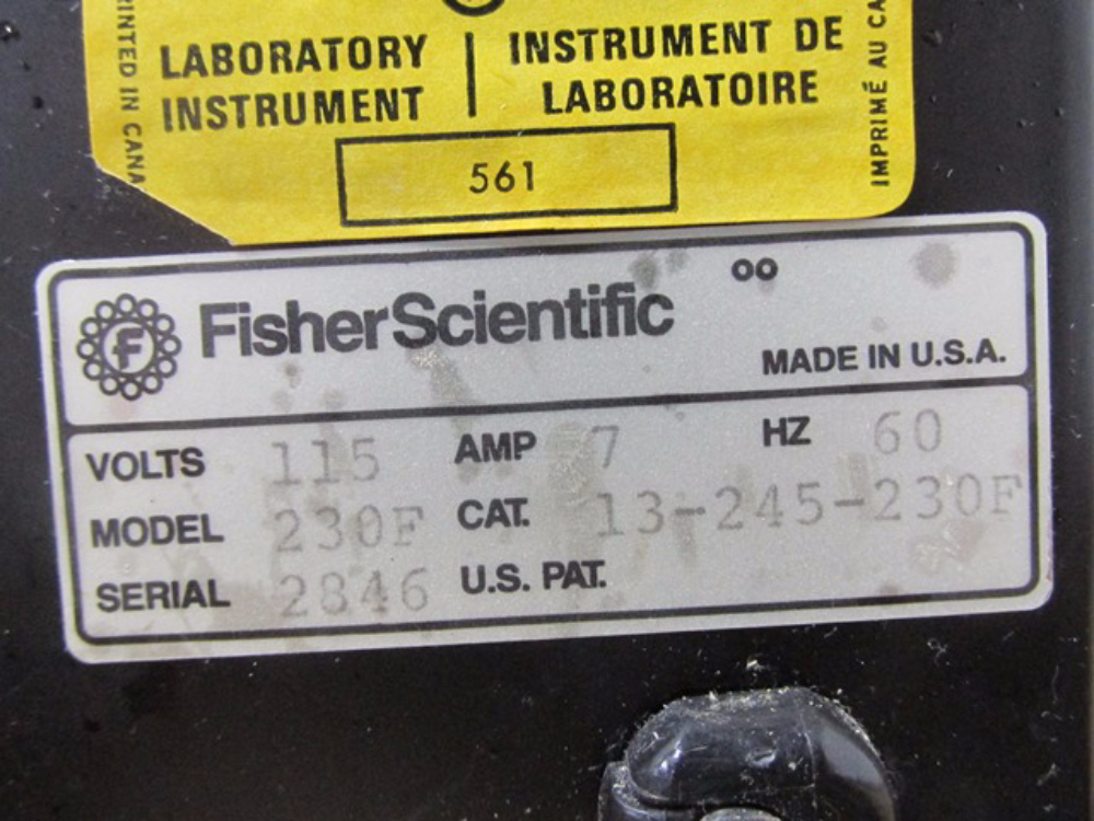 Fisher Scientific 230F Isotemp Oven