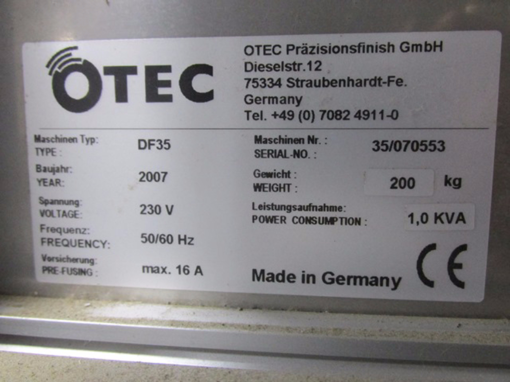OTEC DF35 Tablet Tooling Polisher
