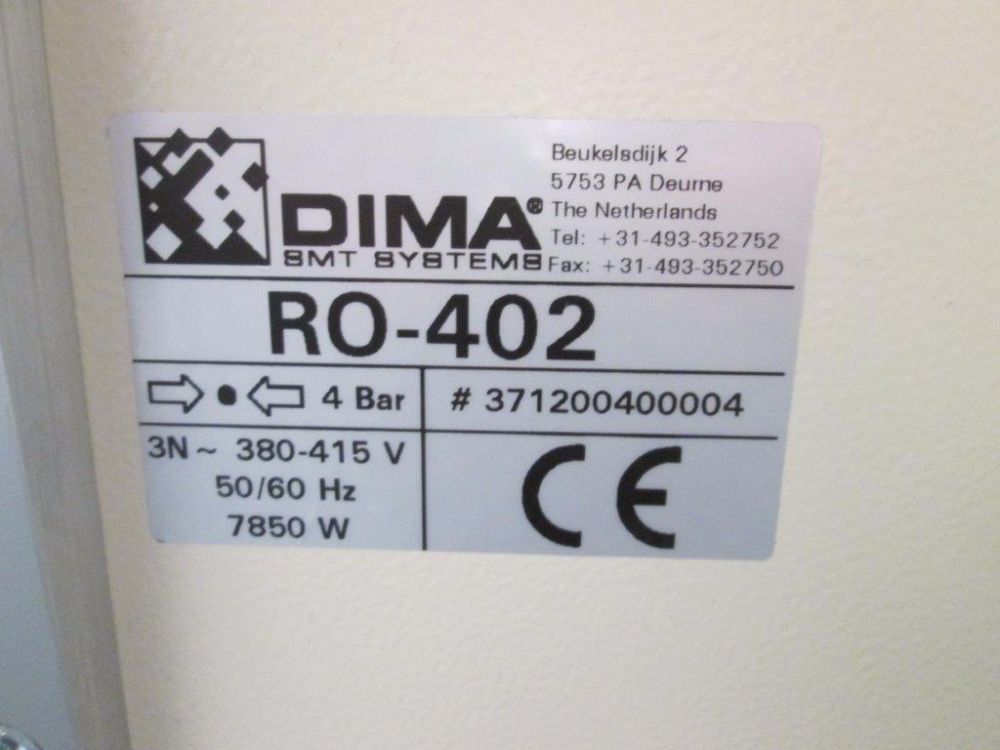 DIMA Systems Zepher RO-42 Curing Oven
