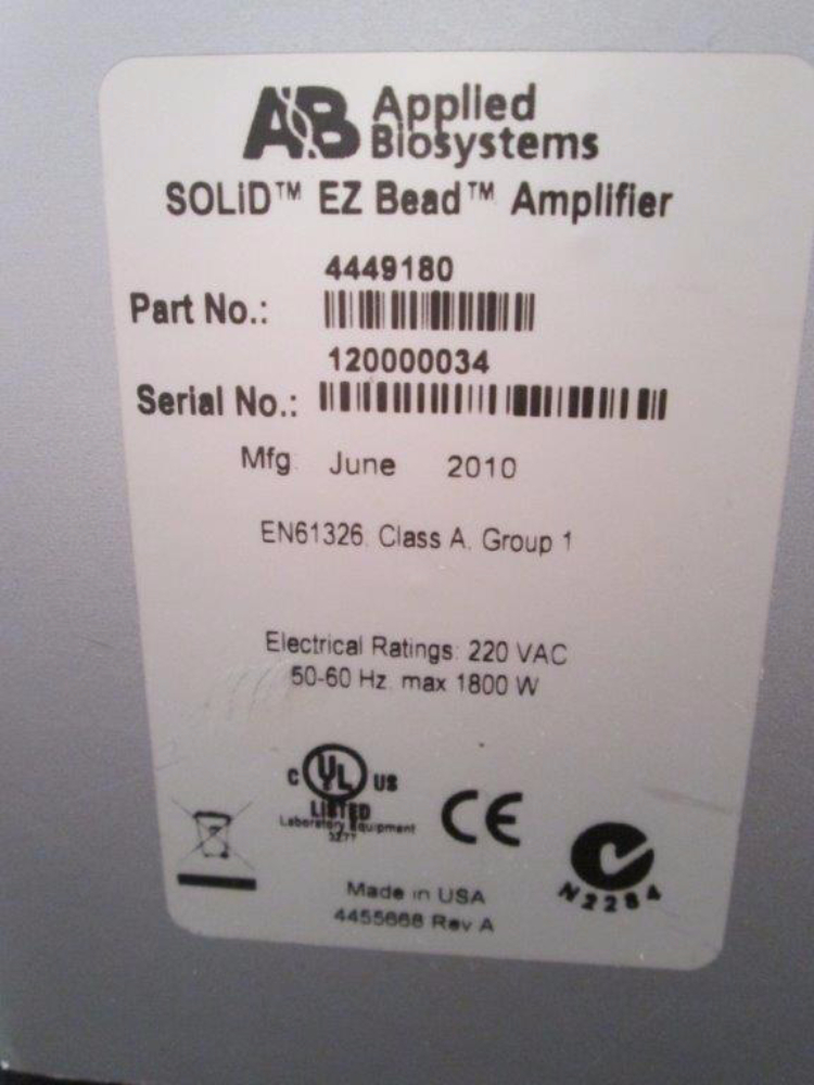 ABI SOLiD EZ Bead System