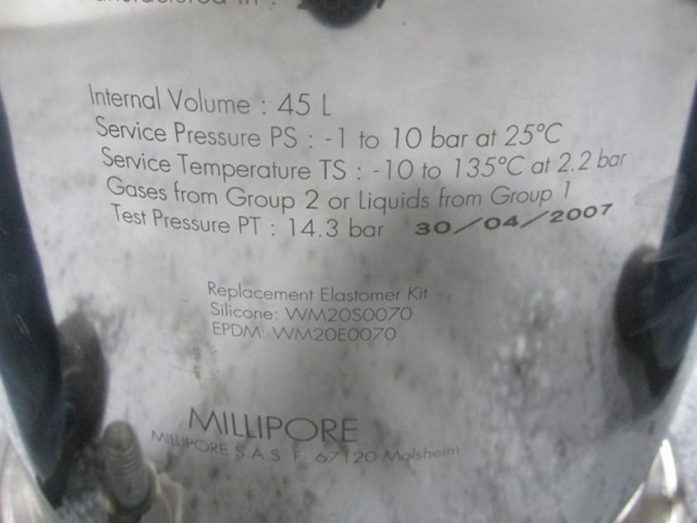 Millipore 45 Liter Filter