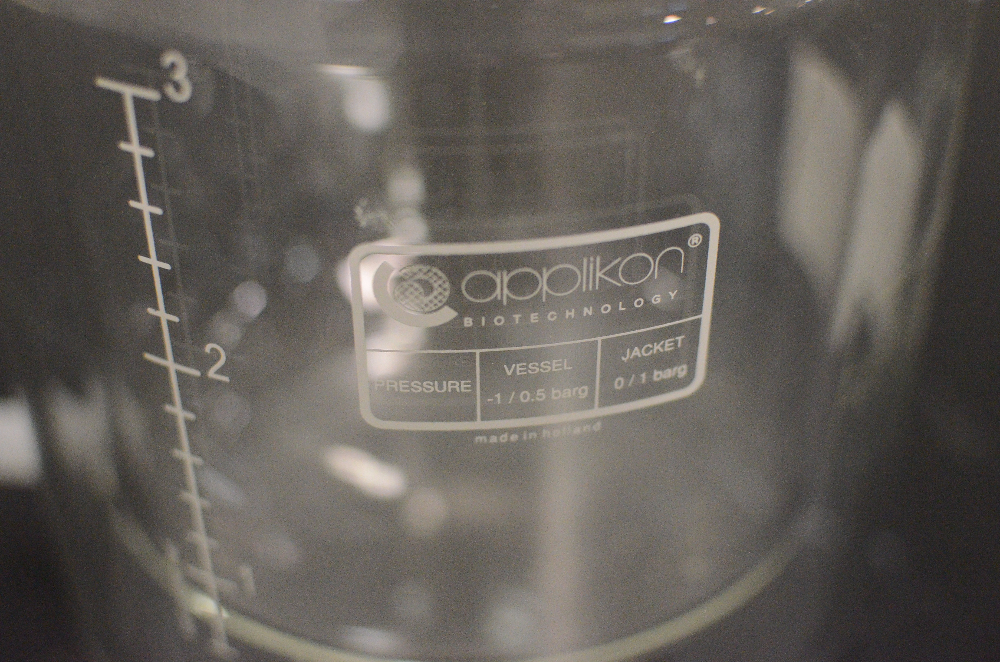 Applikon 3 Liter Bioreactor Glass Vessel