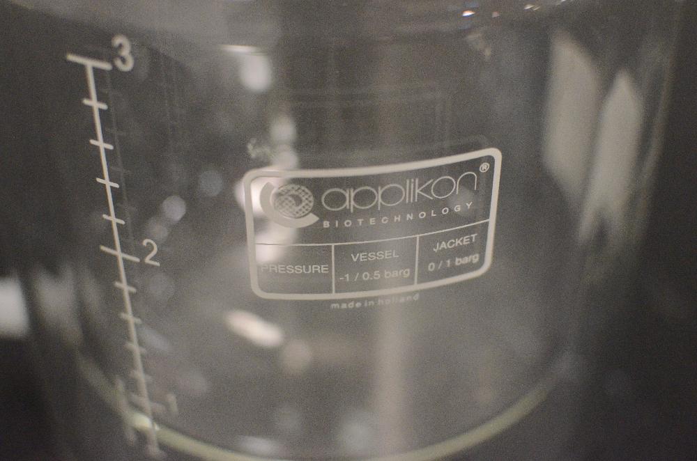 Applikon 3 Liter Bioreactor Glass Vessel
