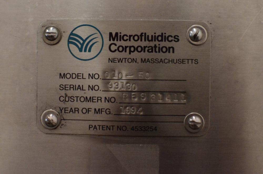 Microfluidics M-610  Microfluidizer Processor