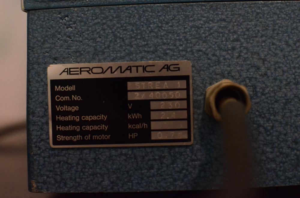 Aeromatic Strea 1 Benchtop Fluid Bed Dryer