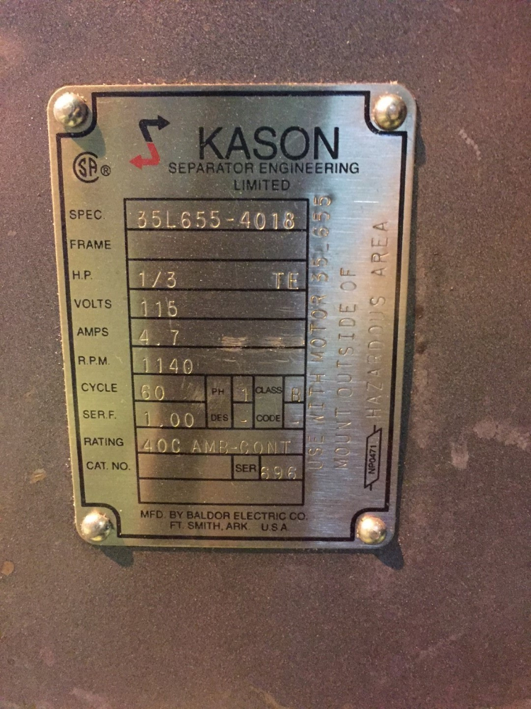 Kason K24-2-SS/Spec Vibrating Screen