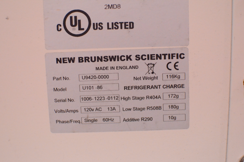 New Brunswick U101 Innova Ultra -Low Temperature Freezer