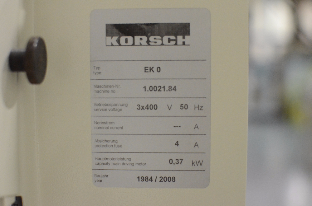 Korsch EK-0 Single Station Tablet Press