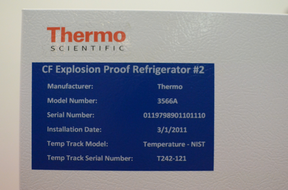 Thermo Scientific  3566A CF Explosion Proof Refrigerator