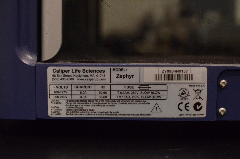 Caliper Life Sciences Zephyr Compact Liquid Handling Workstation