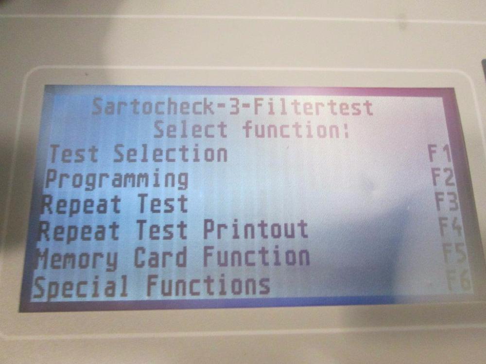 Sartorius Sartocheck 3 Filter Integrity Tester
