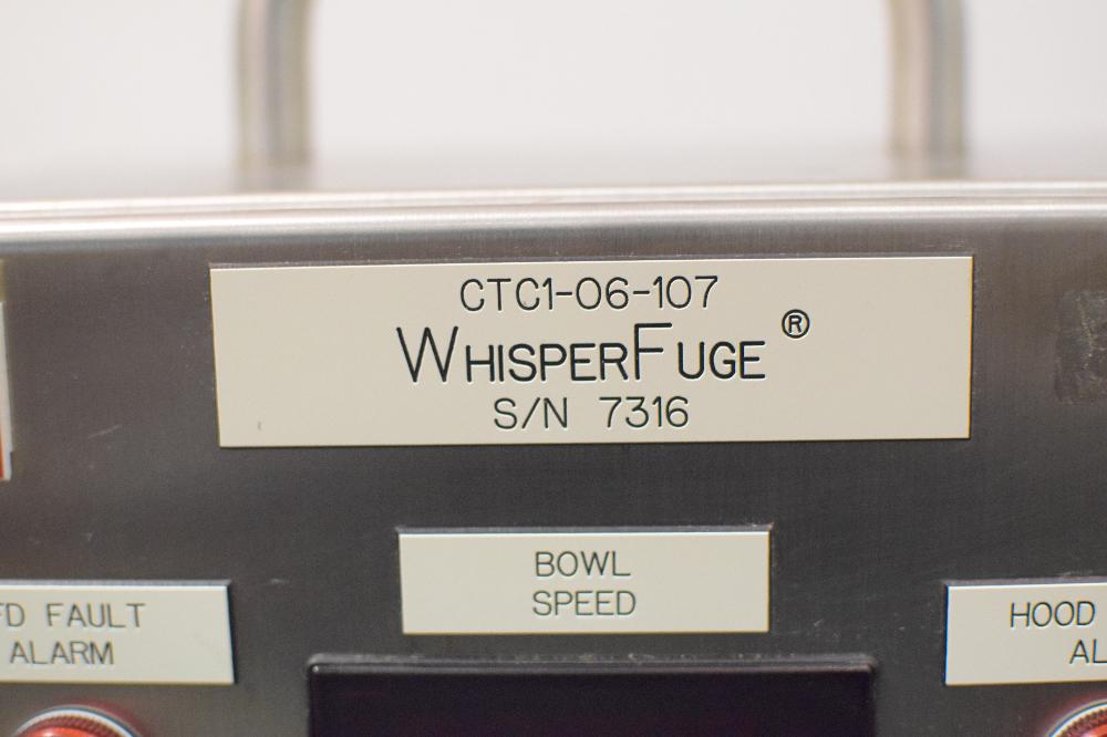 GEA Westfalia Whisperfuge Separator, Model CTC1-06-107