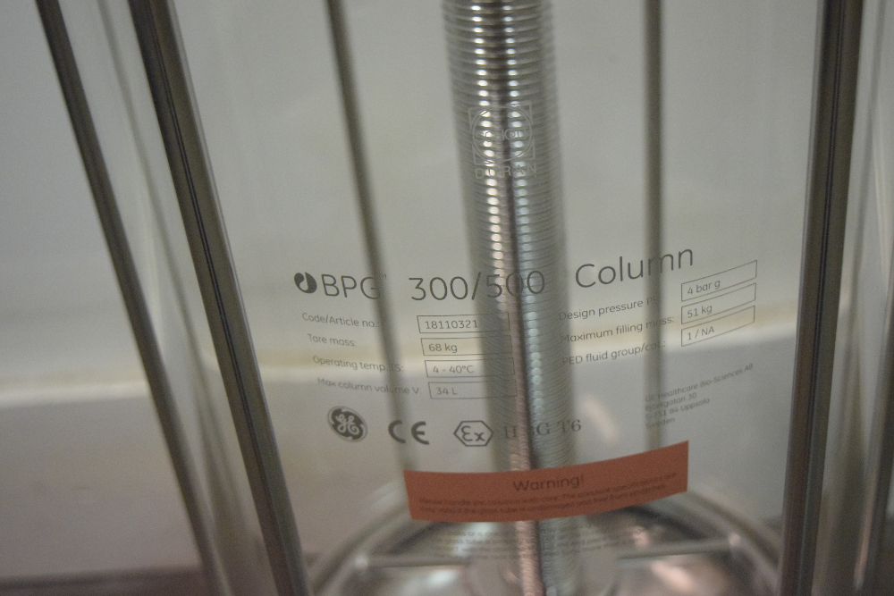 Pharmacia Biotech BPG 300/500 Chromatography Column