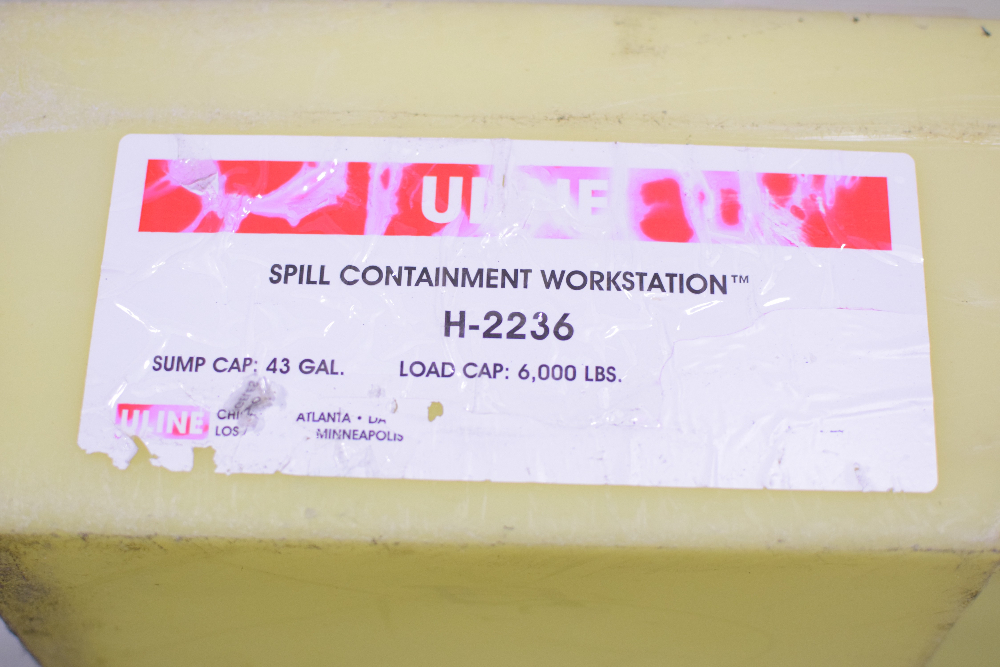 ULINE Spill Containment Workstation H-2236 Pallet