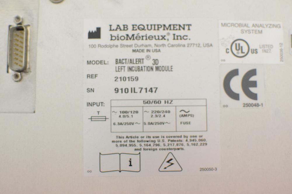 Bac-T Alert 3D Incubator