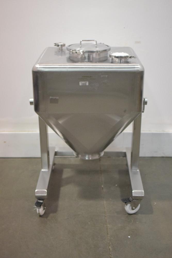 Servolift 200 Liter Mobile Stainless Steel IBC Bin