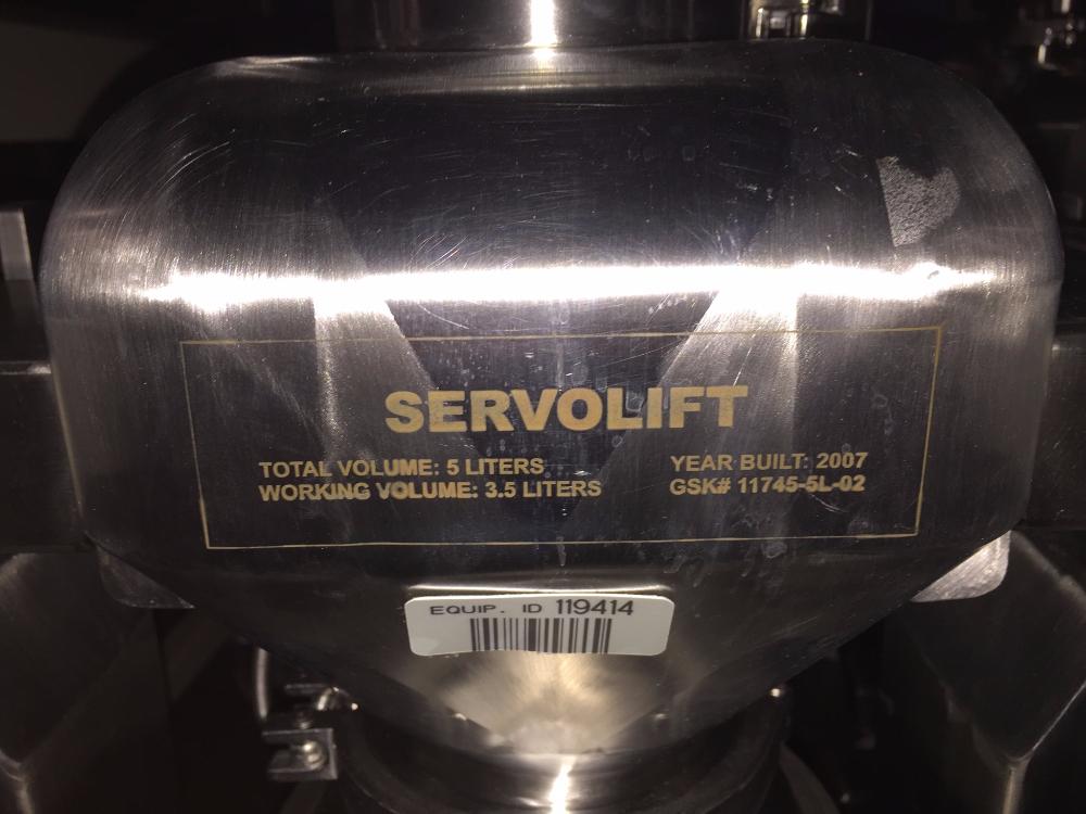 Servolift 5 Liter Mobile Stainless Steel  IBC Bin Blender