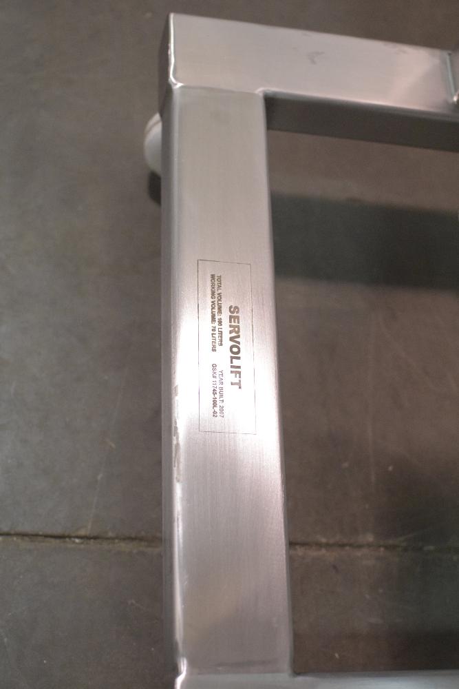 Servolift 100 Liter Stainless Steel IBC Bin