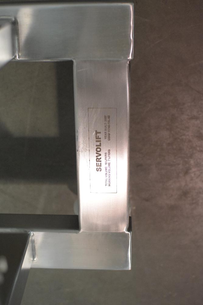 Servolift Steel 10 Mobile Stainless  Liter IBC Bin Blender