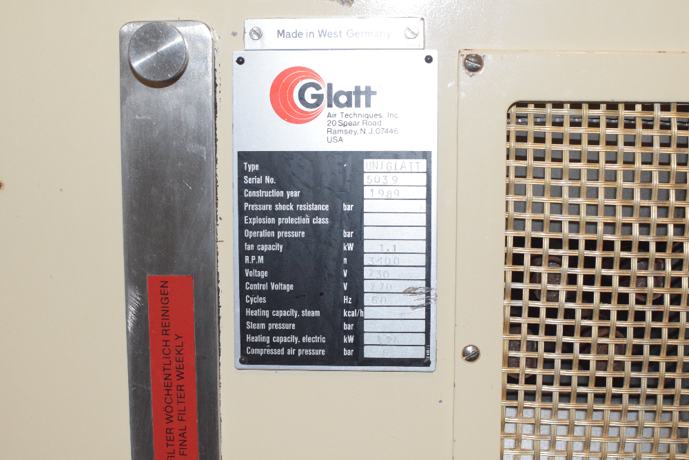 Glatt Air Techniques Uniglatt Fluid Bed Dryer