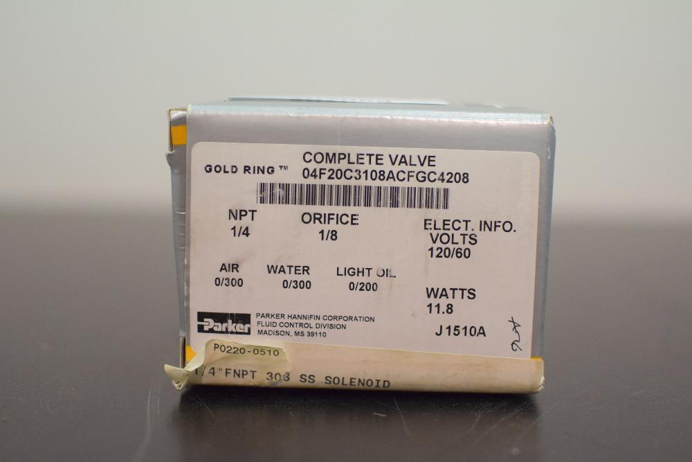 New Brunswick Bioflo 3000 Parker Solenoid Valve