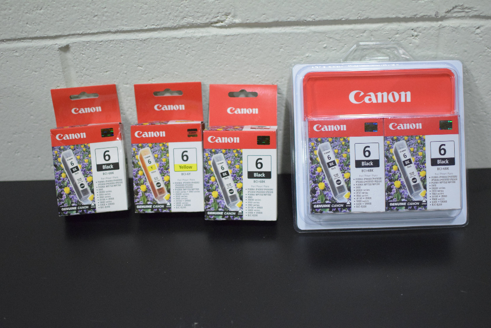 Lot of (5) New/Unopened Canon Printer Ink Cartridges