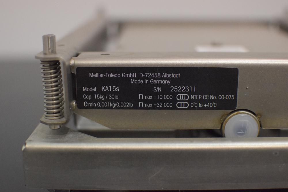 Mettler Toledo KA15s Scale