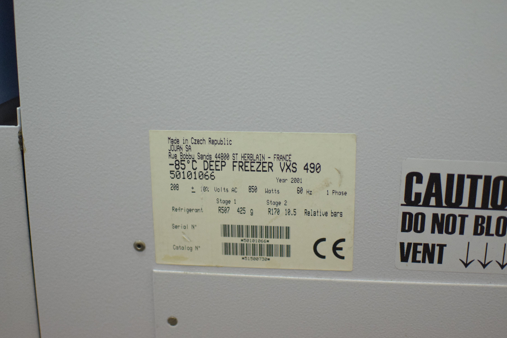 Jouan VX490 -85 Deep Freezer