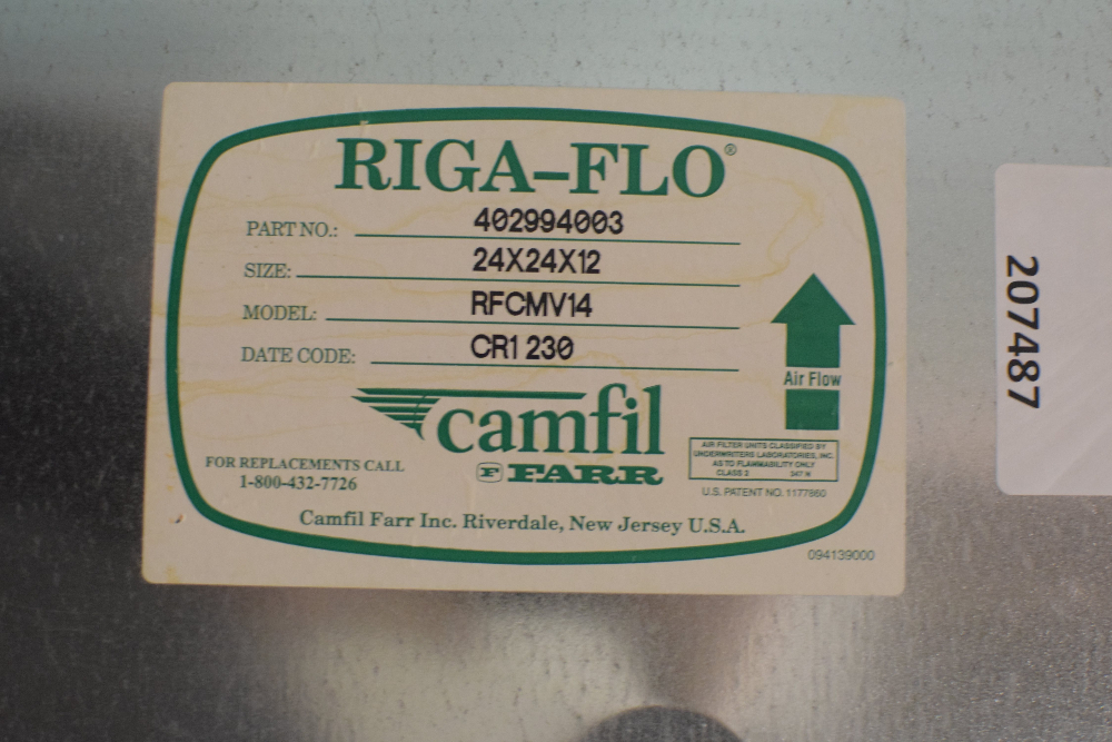Lot of (6) Camfil Filters
