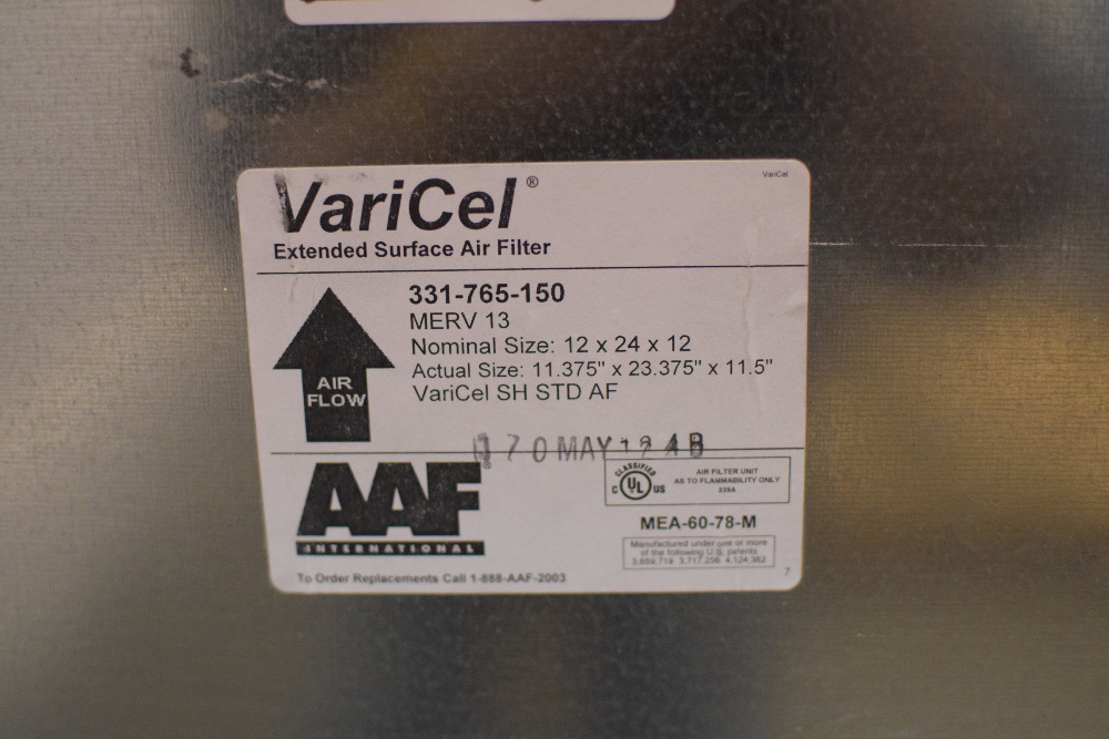Lot of (8) VariCel Extended Surface Air Filters