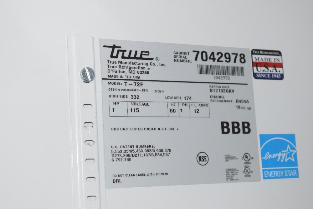 True T-72F Freezer