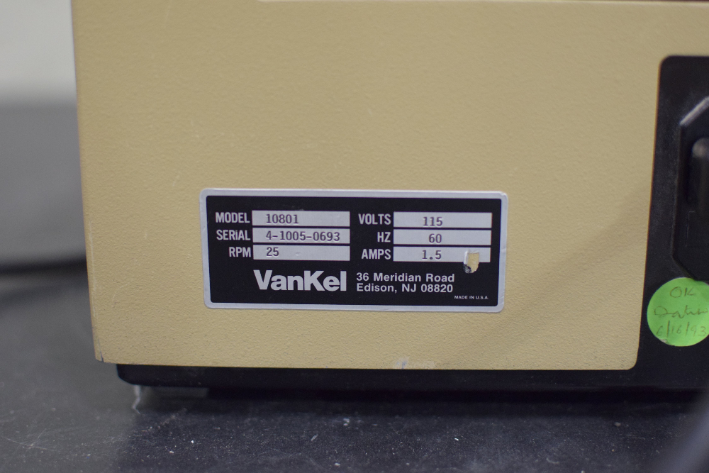 VanKel Model 10801 Single Drum Friabilator
