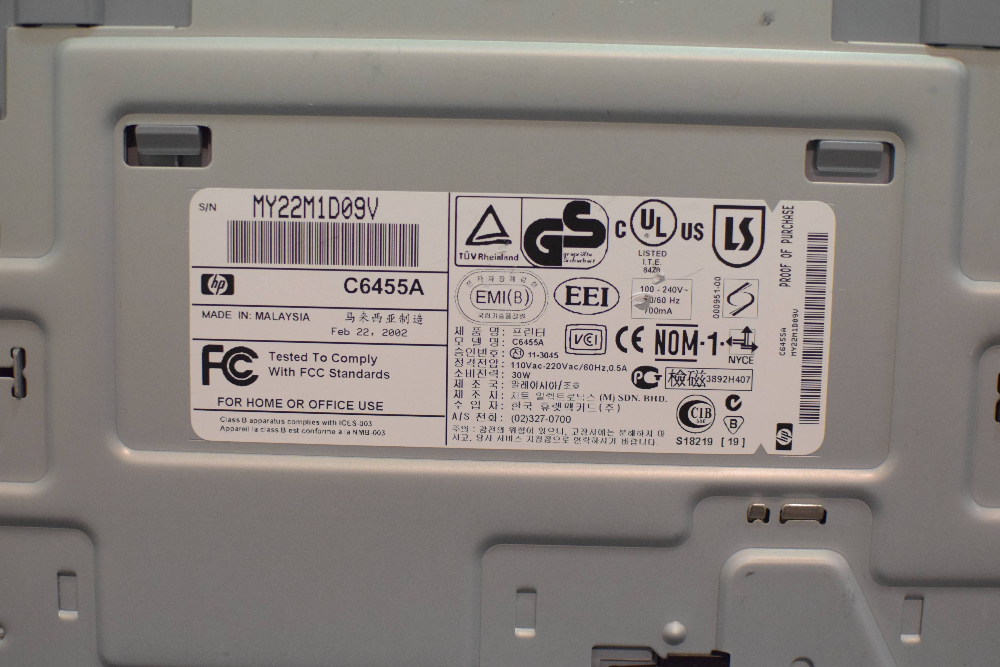 HP Deskjet 990cxi Professional Series Printer