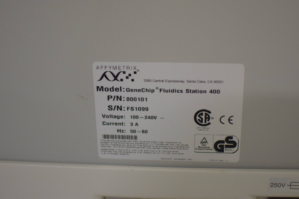 Affymetrix Genechip Autoloader Chip Indicator w (2) 400 Fluidics Stations, Dell
