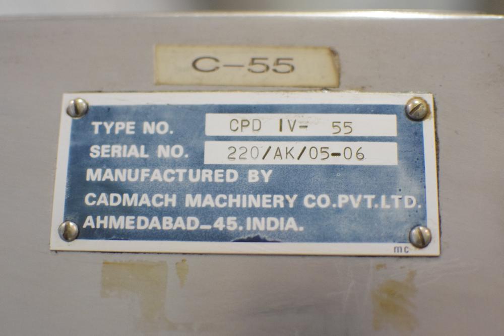 Cadmach CPD IV-55 Tablet Press
