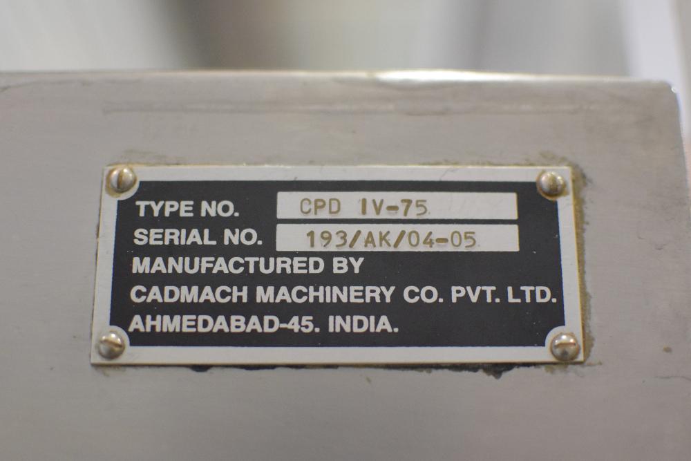 Cadmach CPD IV-75 Tablet Press