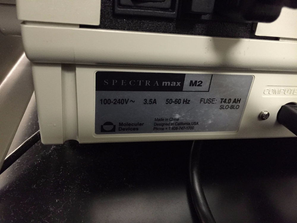 Molecular Devices Spectra Max M2 Micro Plate Reader