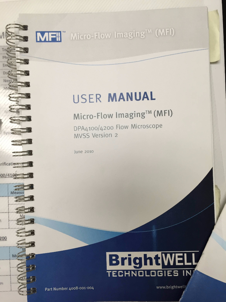 Brightwell Technologies Micro-Flow Imaging Flow DPA 4200 Microscope
