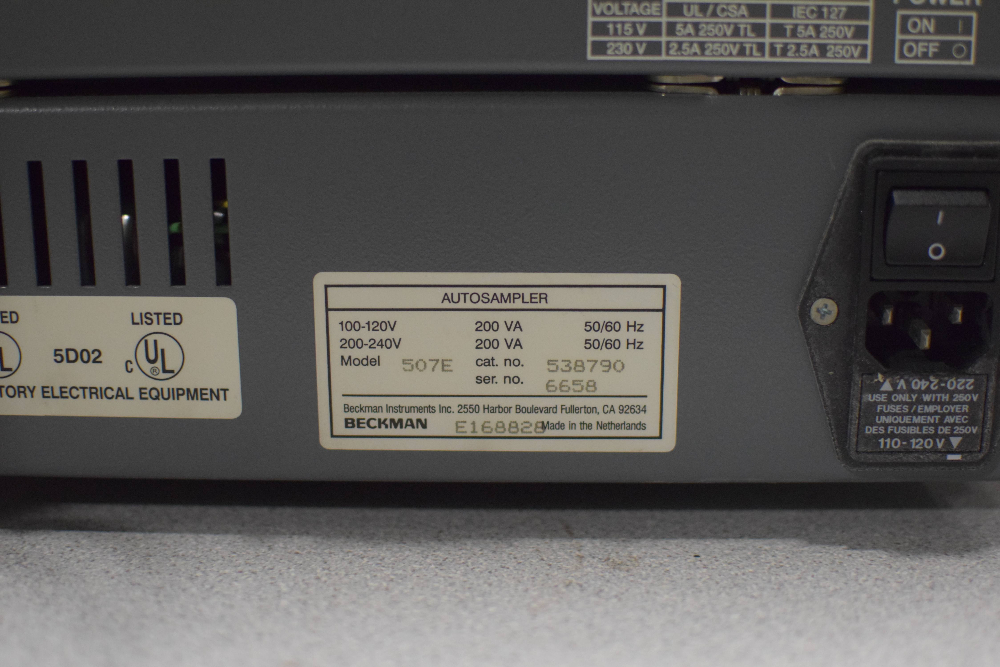 Beckman Coulter System Gold 125 Solvent Module, 166 Detector, and 507e Autosampl