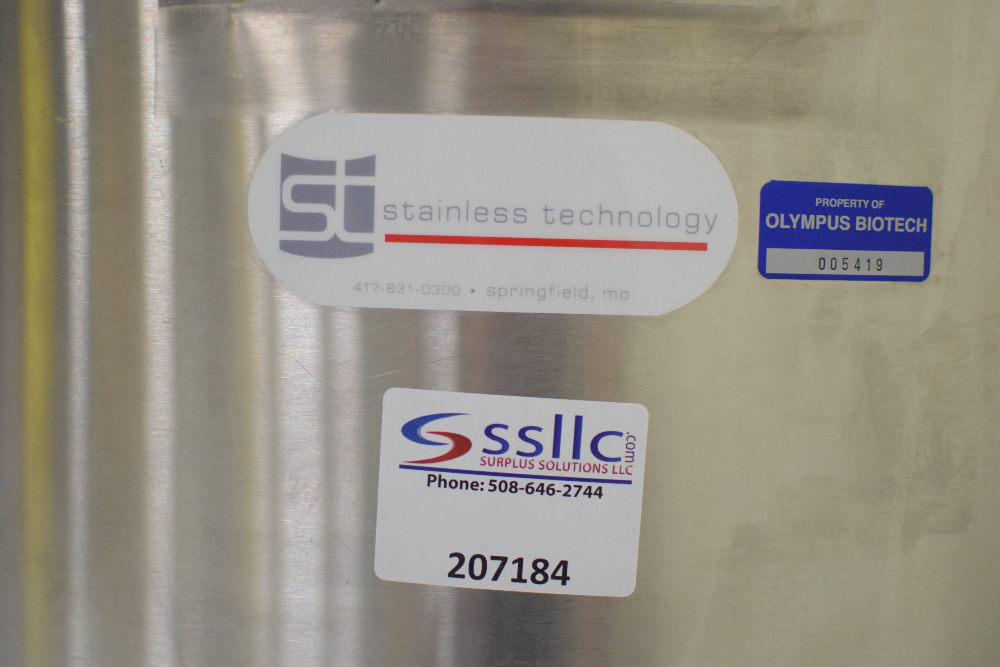 Stainless Technologies 140 Liter Jacketed Reactor