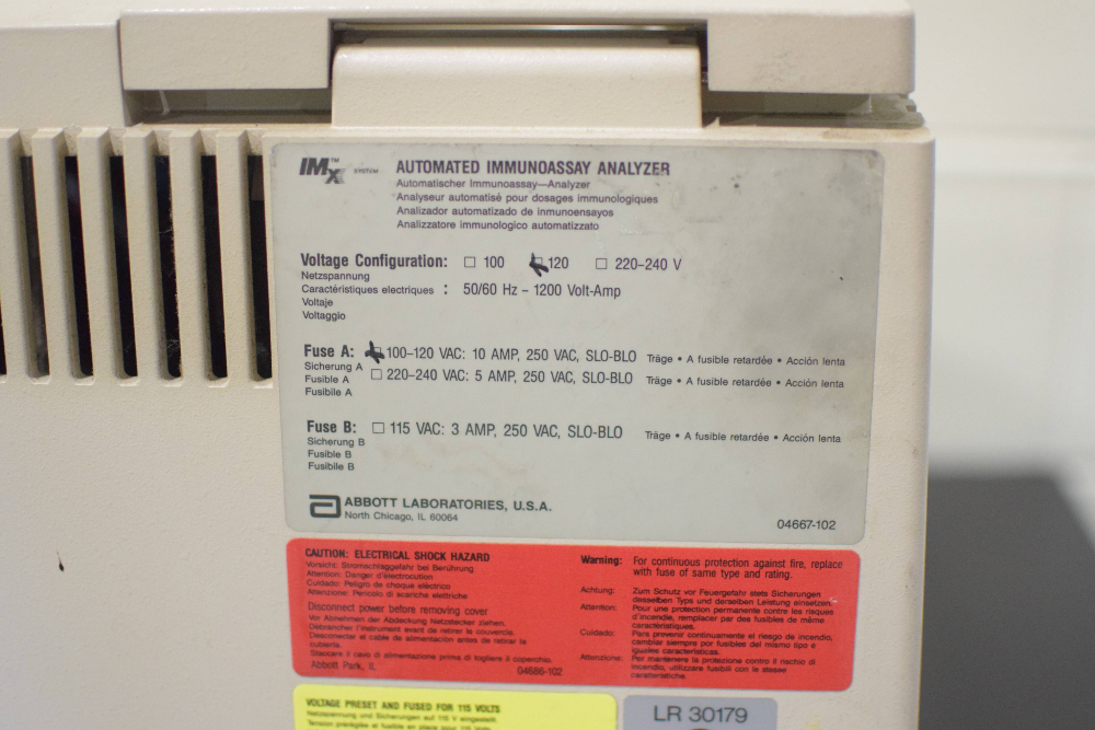 Abbott Labs IMX Automated Immunoassay Analyzer