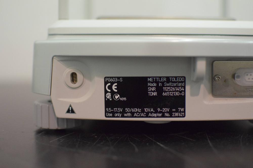 Mettler Toledo PG603-S Analytical Balance