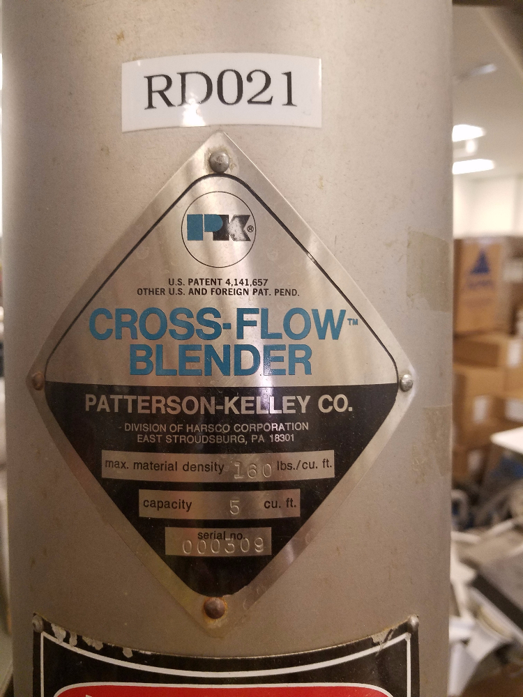 5 Cu Ft Patterson Kelley Cross Flow Blender