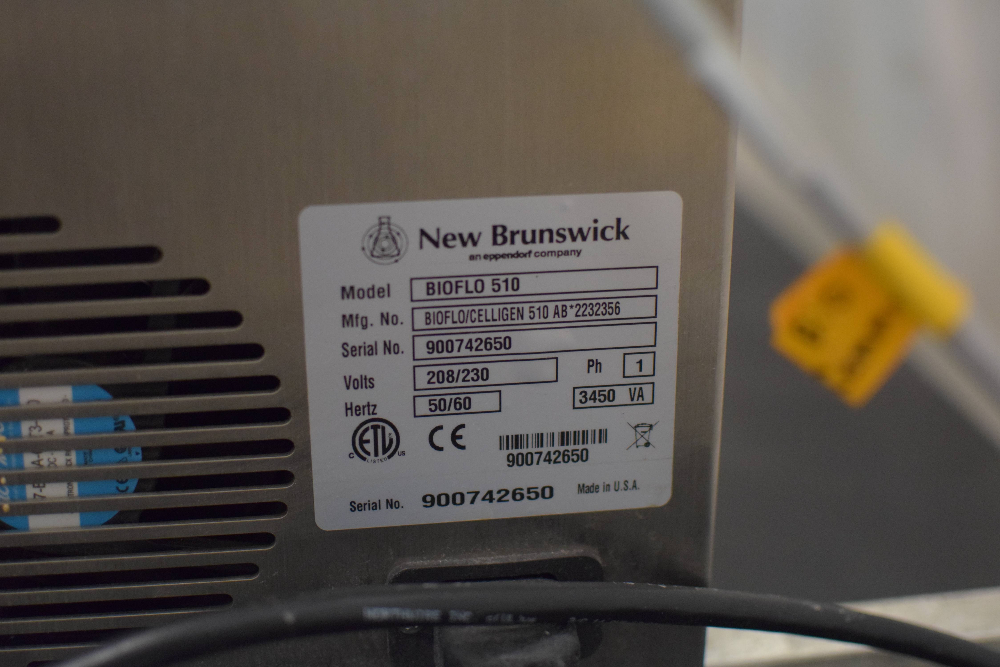 New Brunswick Bioflo 510 Fermenter
