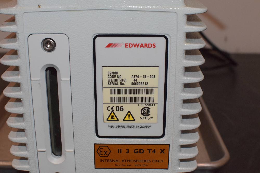 Edwards E2M30 Dual Stage Rotary Vacuum Pump