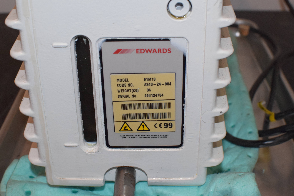 Edwards 18 E1M18 Single Stage Rotary Vacuum Pump